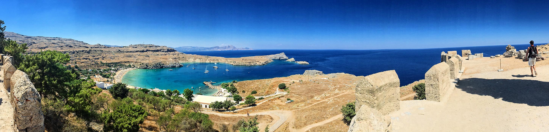 Panorama cestou k Akropoli