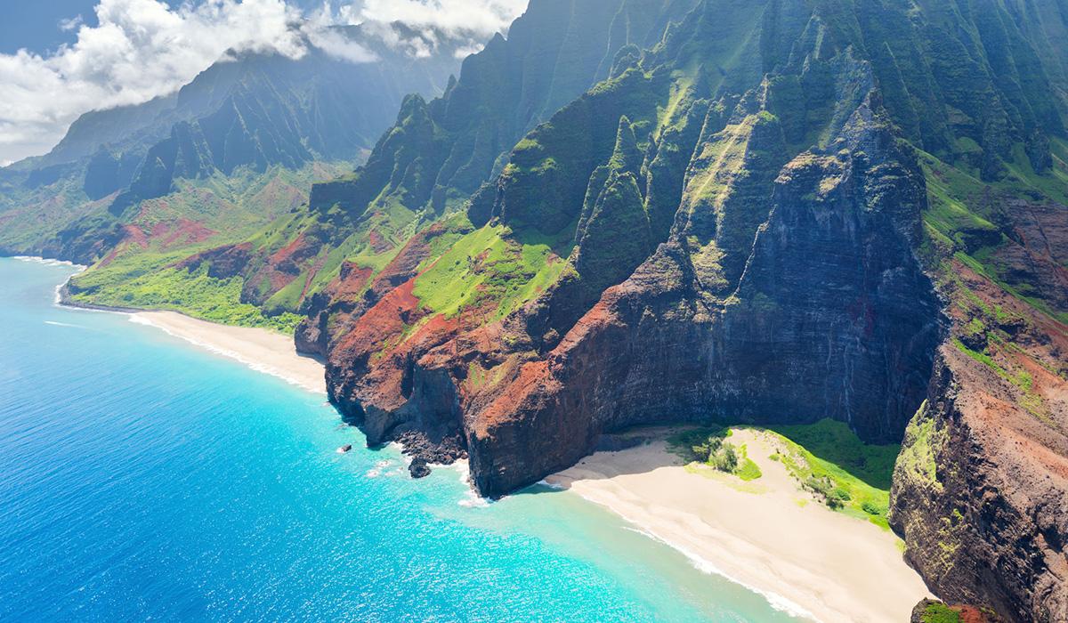 Pobřeží Nā Pali na ostrově Kauai, Hawajské ostrovy