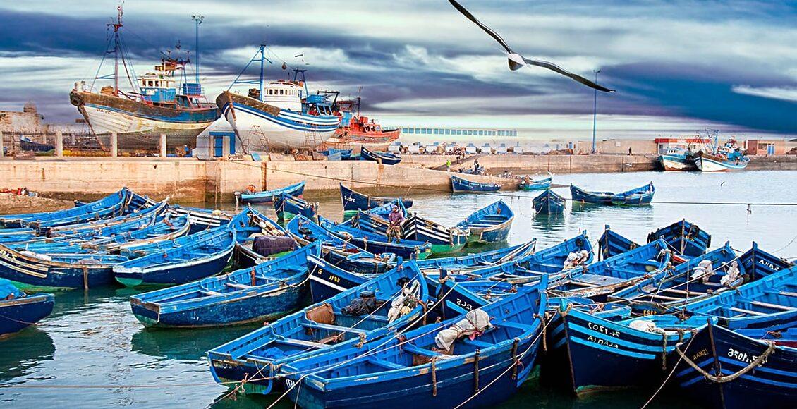 TOP10 - Typické modré rybářské lodě v Essaouirě