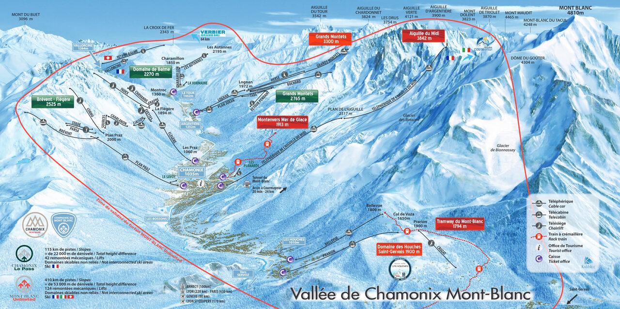 Chamonix-Mont-Blanc mapa