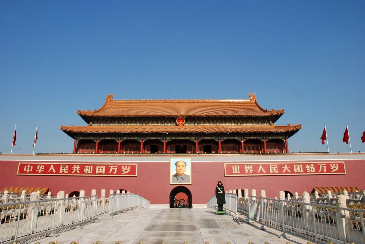 Peking Zakázané město Mao Ce Tung