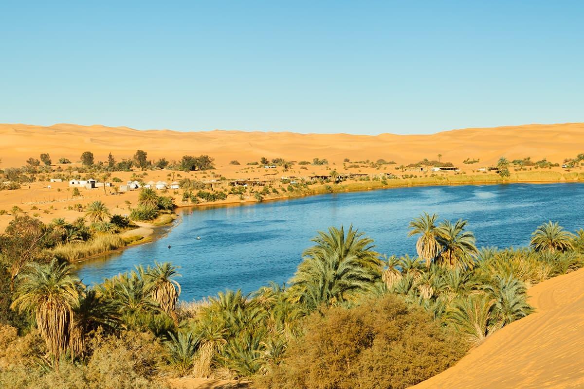 Gaberoun Lake in Libya