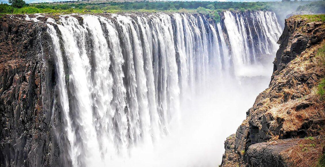 top 5 zemí afrika zimbabwe victoriiny vodopády