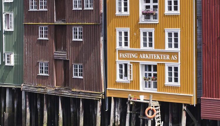 Řeka Nidelven v Trondheimu