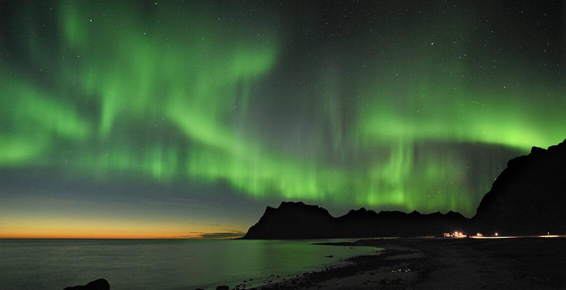 Polární záře Norsko, Laponsko, Švédsko, Finsko,