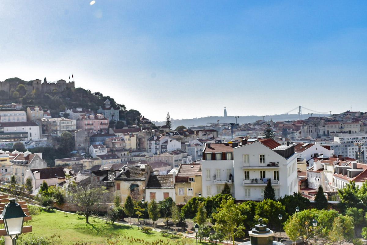 Lisabon Portugalsko Hrad svatého Jiří