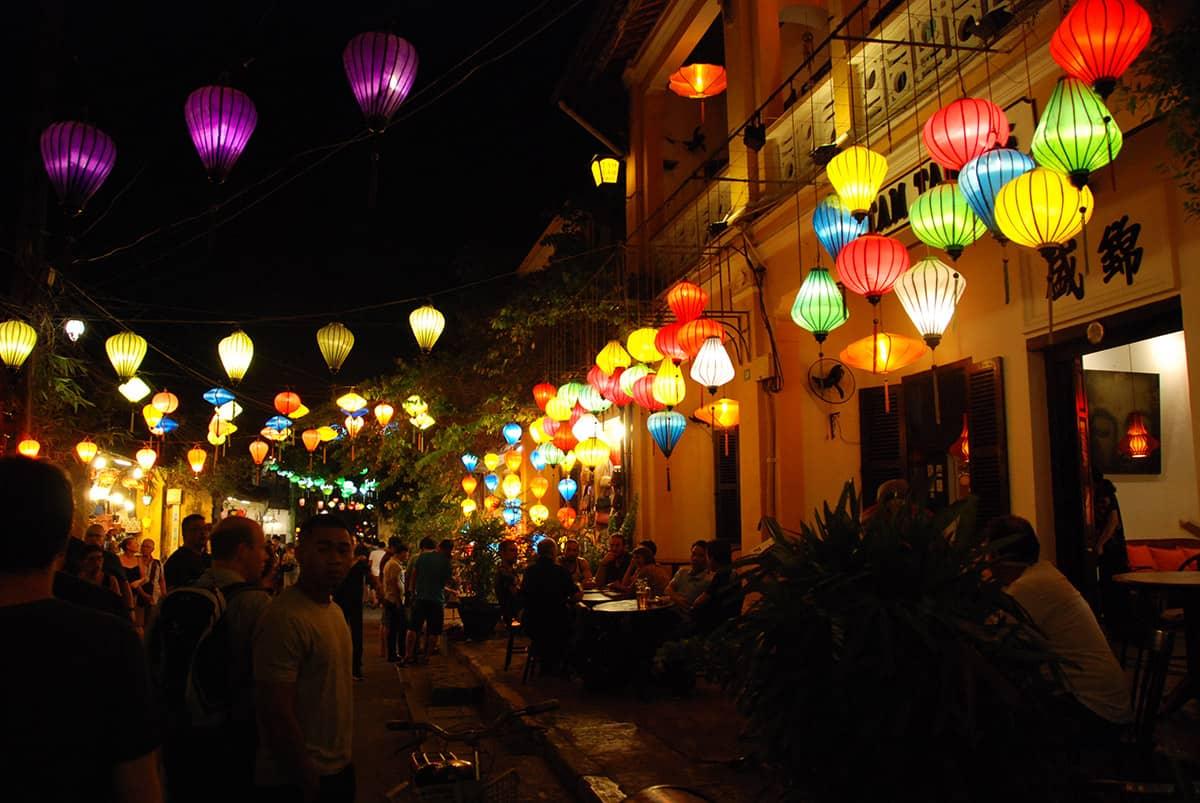 Město středního Vietnamu Hoi An