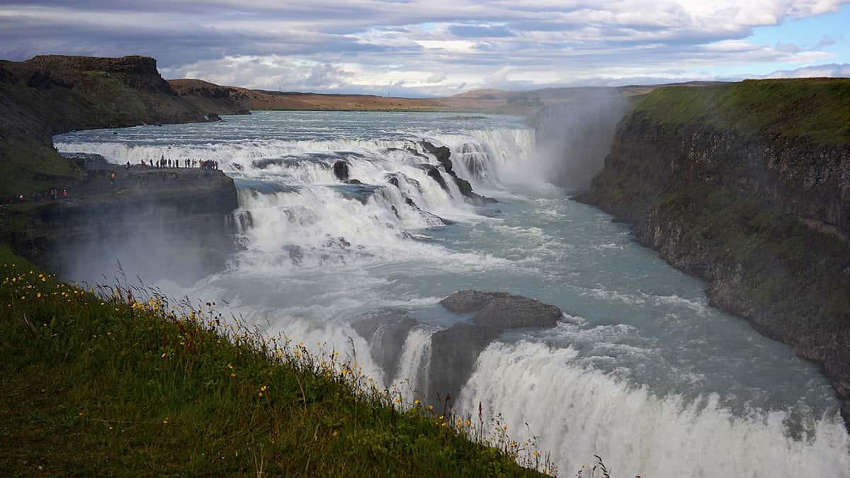 Gullfoss - 10 nej vodopádů Islandu