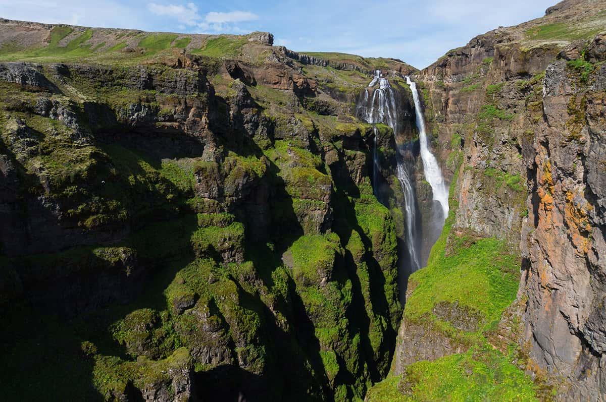 Glymur - 10 nej vodopádů Islandu