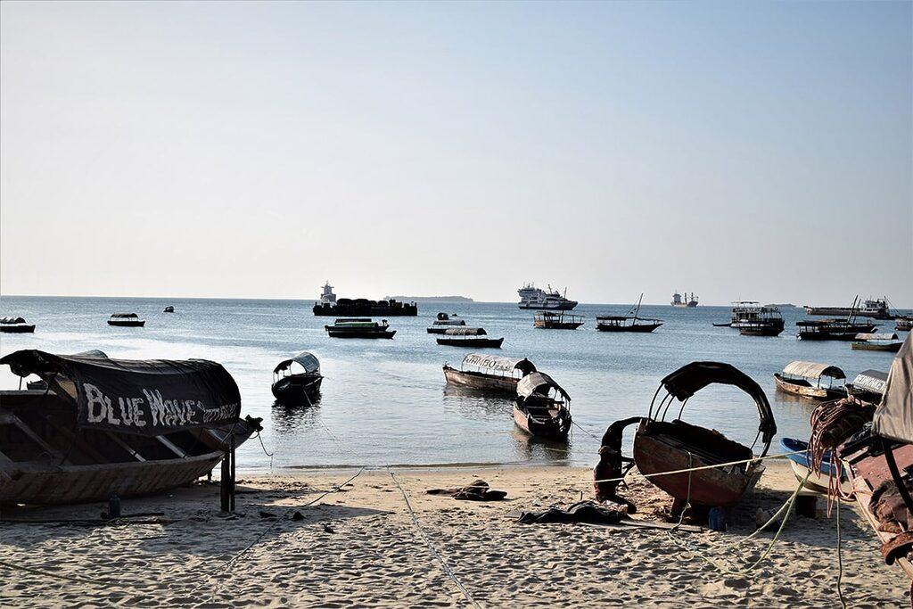 Rybářské lodě ve Stone Town