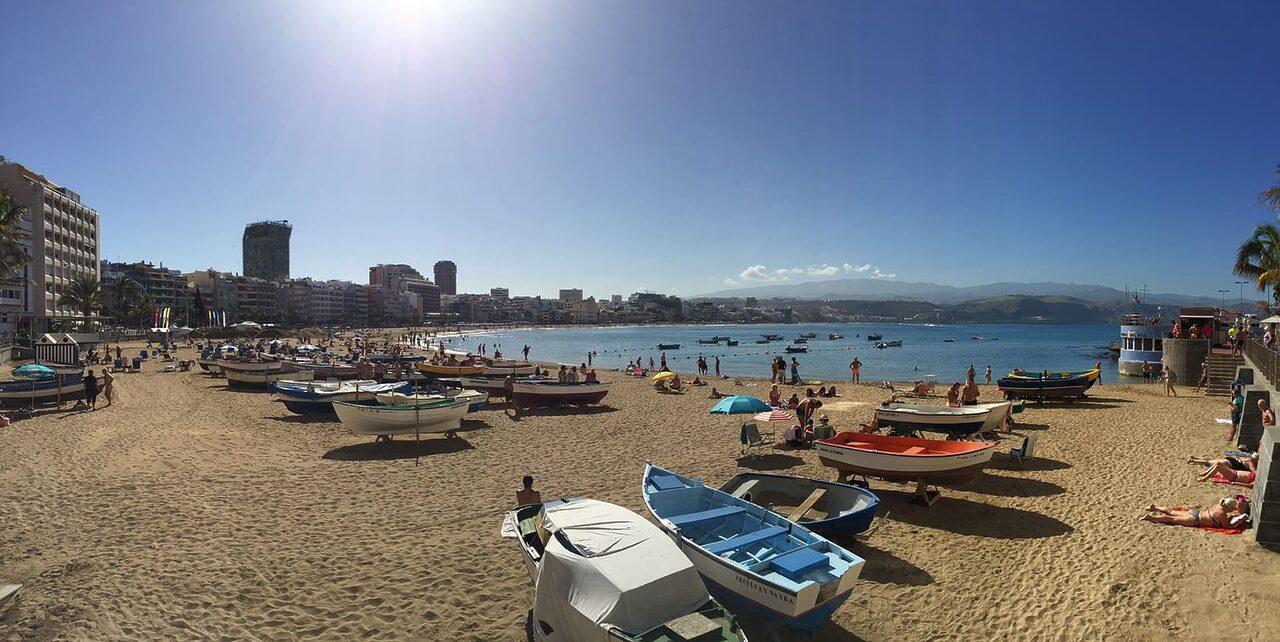 Pohádková pláž Las Canteras.