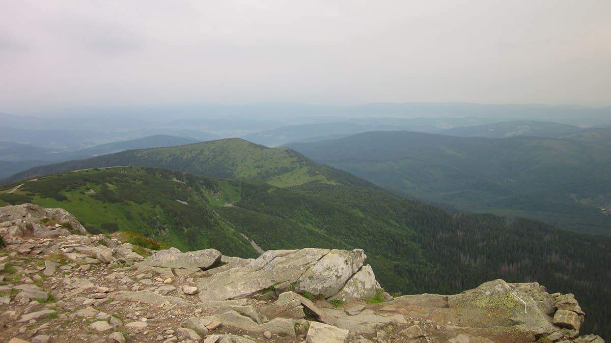 Výhled z Babej hory