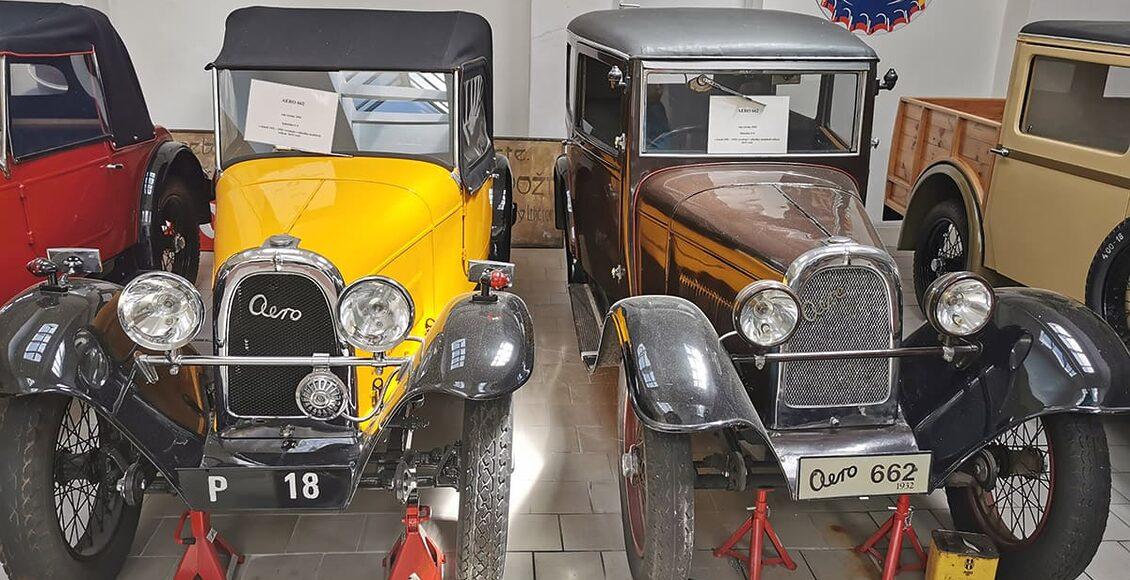 Expozice historických automobilů Aero